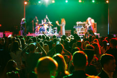 Fans at the concert royalty free stock photography