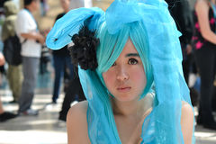 Fans in costume at an LA Anime Expo 2012 Royalty Free Stock Photography