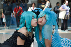 Fans in costume at an LA Anime Expo 2012. LOS ANGELES, CA - JULY 1: Fans in costume at an LA Anime Expo 2012 on  july 1, 2012 at Convention Center, Los Angeles Stock Image