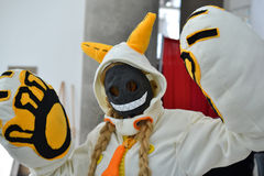 Fans in costume at an LA Anime Expo 2012. LOS ANGELES, CA - JULY 1: Fans in costume at an LA Anime Expo 2012 on  july 1, 2012 at Convention Center, Los Angeles Stock Photography