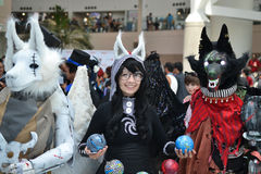 Fans in costume at an LA Anime Expo 2012 Stock Images