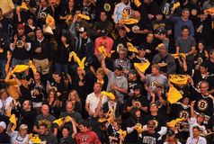Fans de Boston Bruins. Image stock