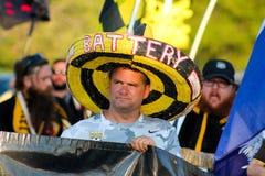 Fans de Charleston Battery Imagen de archivo libre de regalías