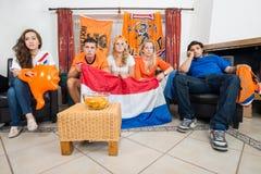 Fans de deportes holandesas de Dissillusioned Imágenes de archivo libres de regalías