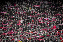 Fans de Feyenoord sur les supports Photos stock