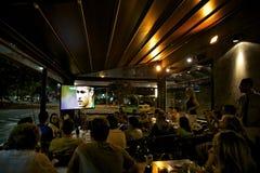 Fans de foot du Brésil Image libre de droits