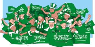 Fans de foot de l'Arabie Saoudite illustration libre de droits