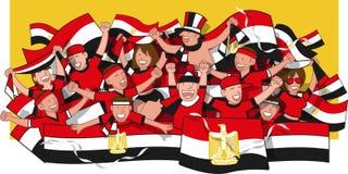 Fans de foot de l'Egypte illustration libre de droits