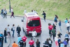 Fans de Justin Bieber Dawid Kwiatkowski polonais Image libre de droits