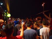 Fans de l'Angleterre à Marseille Image stock