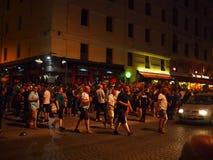Fans de l'Angleterre à Marseille Image libre de droits