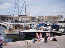 Fans de l'Angleterre à Marseille Photos stock