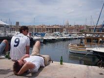 Fans de l'Angleterre à Marseille Photographie stock libre de droits