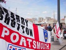 Fans de l'Angleterre à Marseille Photo libre de droits
