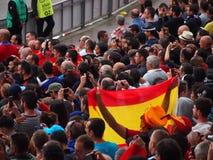 Fans de l'Espagne Photo libre de droits