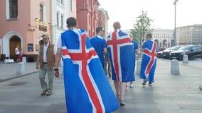 Fans de l'Islande sur la rue Photo libre de droits