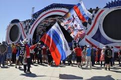 Fans de la formule 1 Grand prix de la Russie 2017 autographes de attente photos libres de droits