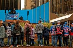 Fans de los guardabosques de NY Fotos de archivo