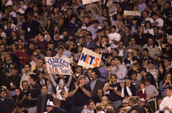 Fans de Mets y de los yanquis Foto de archivo libre de regalías