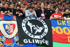 Fans de Piast Gliwice Imagen de archivo