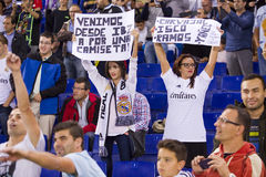 Fans de Real Madrid Photographie stock libre de droits