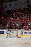 Fans del comando Slovan (Bratislava) Fotografía de archivo