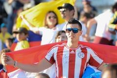 Fans del equipo durante Copa América Centenario Fotos de archivo libres de regalías