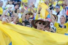 Fans del equipo durante Copa América Centenario Foto de archivo libre de regalías