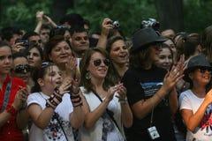 Fans del ` s de Michael Jackson Fotografía de archivo libre de regalías