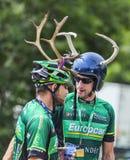 Fans del Tour de France del Le Imagenes de archivo