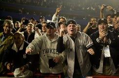Fans del yanqui de Nueva York Fotos de archivo libres de regalías