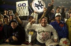 Fans del yanqui de Nueva York Fotos de archivo