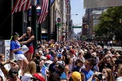 Fans des US-Frauen-nationalen Fußball-Teams Lizenzfreies Stockfoto