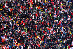 Fans of Dinamo Bucharest football club Royalty Free Stock Images