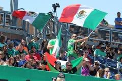 Fans du Mexique photographie stock