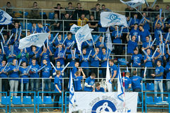 Fans of Dynamo Moscow during the game Stock Photography