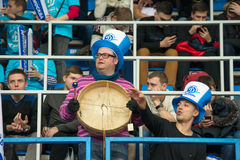 Fans of Dynamo Moscow Stock Image