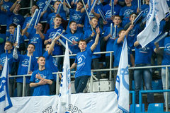 Fans of Dynamo Moscow Royalty Free Stock Images