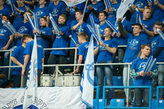 Fans of Dynamo Moscow Royalty Free Stock Image