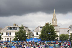 Fans at Eastbourne 2011 Quarter-finals Royalty Free Stock Photography