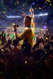 Fans en juego del estadio fotografía de archivo libre de regalías