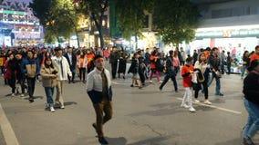 Fans en las calles de la capital Hanoi
