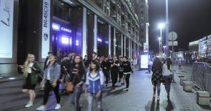 Fans en las calles de Moscú almacen de metraje de vídeo