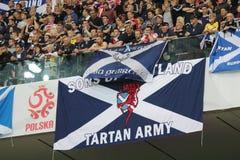 Fans escocesas Fotografía de archivo