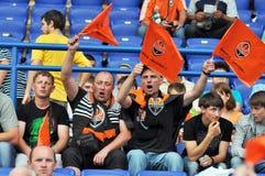 Fans et drapeaux Photographie stock libre de droits