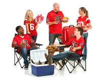 Fans: Fans Have Tailgate Party Royalty Free Stock Images