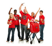 Fans: Fans Have Tailgate Party Before Game Royalty Free Stock Photography