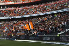 Fans of FC Shakhtar Donetsk stock images