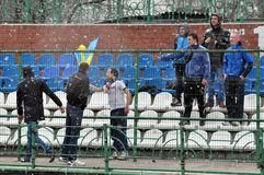 Fans of FC Volyn Stock Image