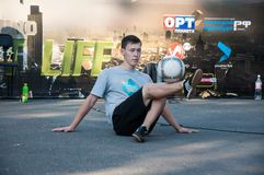 Fans of Football Freestyle Stock Images